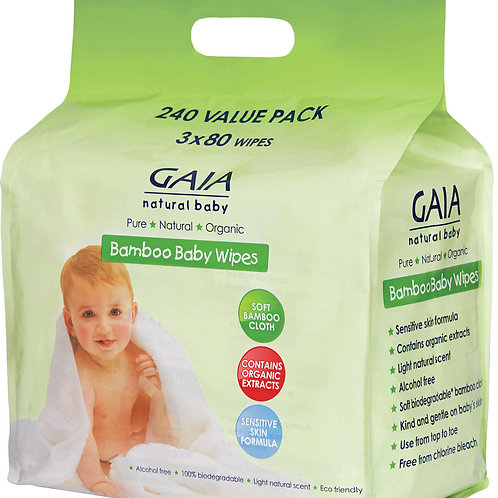 Gaia Baby Wipes Pack of 3