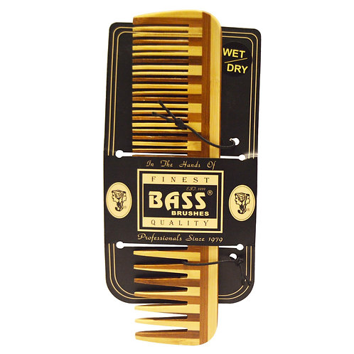 Bass Brush Tortoise Comb - fine tooth