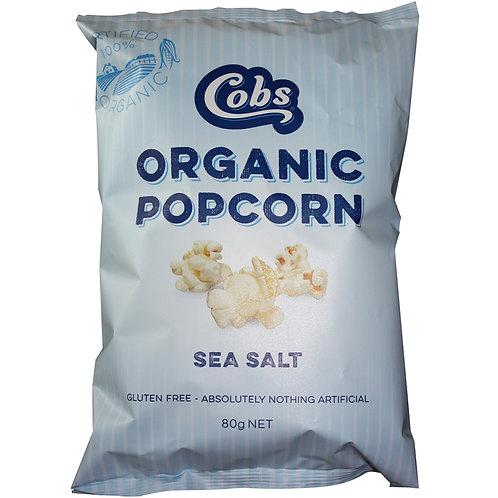 Cobs Organic Sea Salt popcorn G/F 80g