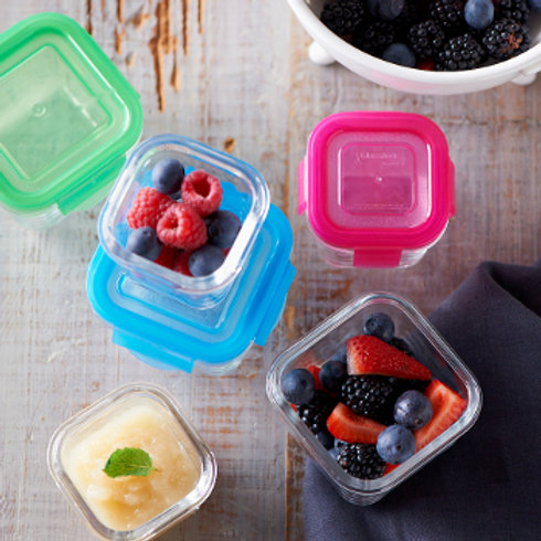 Littlelock tempered glass containers (pack of 3)