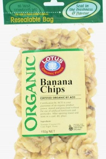 Lotus Organics Banana Chips 150gm