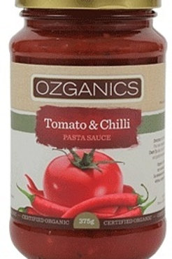 Ozganics Organic Tomato & Chilli Pasta Sauce 375