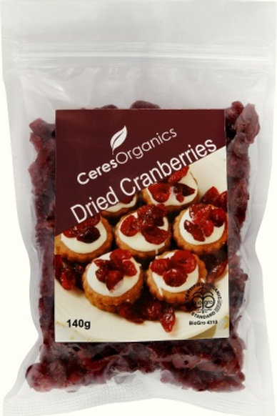Ceres Organics Dried Cranberries 140g