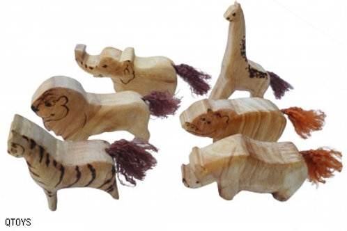 3D Safari Animals set of 6