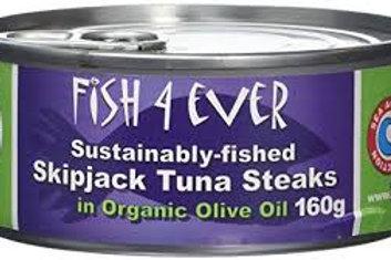 Fish 4 Ever Skipjack Tuna in Olive Oil 160g
