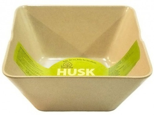 EcoSouLife Rice Husk (D19 x H9cm) Large Square Bowl Natural