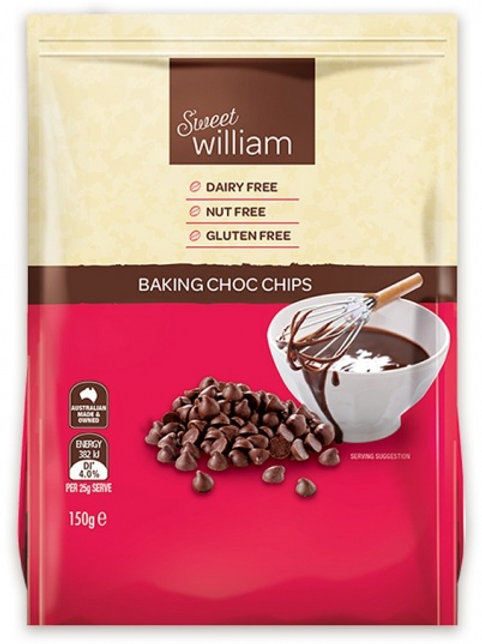 Sweet William Chocolate Chips G/F 150g