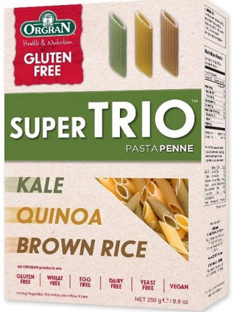Orgran Super Trio Brown Rice, Quinoa & Kale Penne Pasta 250g
