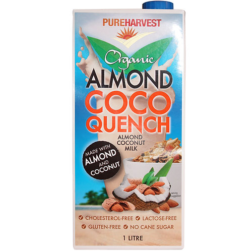 Pure Harvest (G/F) | Almond Coco Quench Milk | 1lt(ACO) carton of 12