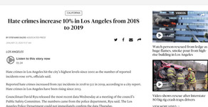 Hate crimes in Los Angeles reach highest level since 2002, data show