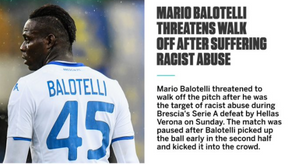 (VIDEO) Mario Balotelli walks off pitch after being racially abused by Verona fans