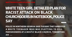 White teen girl detailed plan for racist attack on black churchgoers in notebook, police say