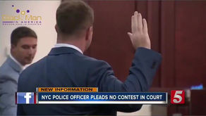 This police officer breaks into a black woman's home, threatens them using racial slurs