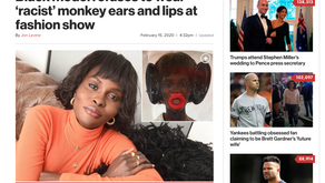Black model refuses to wear 'racist' monkey ears and lips at fashion show
