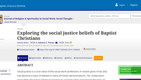Exploring the social justice beliefs of Baptist Christians