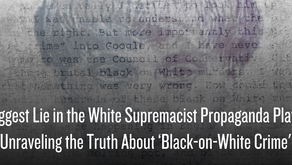 The Biggest Lie in the White Supremacist Propaganda Playbook: Unraveling the Truth About 'Black-on-W