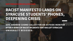 Racist Manifesto Lands on Syracuse Students' Phones, Deepening Crisis