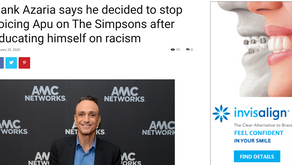 Hank Azaria says he decided to stop voicing Apu on The Simpsons after educating himself on racism