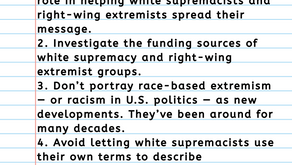 10 tips for covering white supremacy and far-right extremists in the media