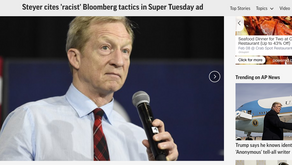 Steyer cites 'racist' Bloomberg tactics in Super Tuesday ad