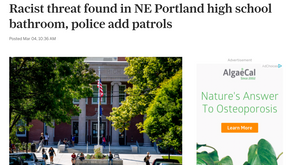 Racist threat found in NE Portland high school bathroom, police add patrols