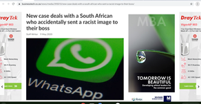 New case deals with a South African who accidentally sent a racist image to their boss