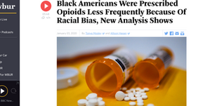 Black Americans Were Prescribed Opioids Less Frequently Because Of Racial Bias, New Analysis Shows