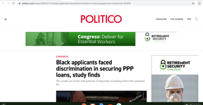 Black applicants faced discrimination in securing PPP loans, study finds