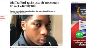Old Trafford 'racist assault' not caught on CCTV, family told