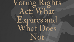 Voting Rights Act: What Expires and What Does Not