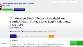 'An Outrage, Not Athletics': Apartheid and South African–United States Rugby Relations, 1976–1990