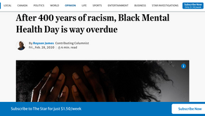 After 400 years of racism, Black Mental Health Day is way overdue