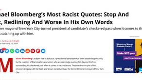 Michael Bloomberg's Most Racist Quotes: Stop And Frisk, Redlining And Worse In His Own Words
