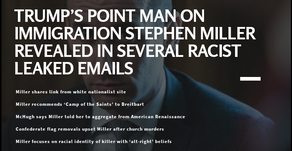 Trump's point man on immigration Stephen Miller Revealed in several racist Leaked Emails