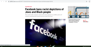 Facebook bans racist depictions of Jews and Black people
