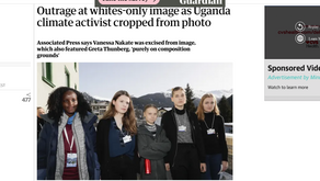 Outrage at whites-only image as Uganda climate activist cropped from photo