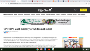 OPINION: Vast majority of whites not racist