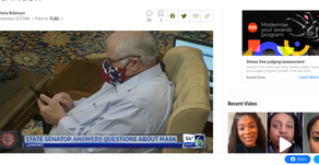 Michigan State Senator Wears Confederate Flag Mask, Then Denies and Later Apologizes for Wearing Sai