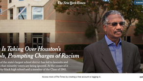 Texas Is Taking Over Houston's Schools, Prompting Charges of Racism