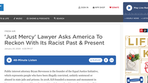 'Just Mercy' Lawyer Asks America To Reckon With Its Racist Past & Present
