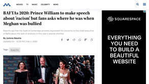 Prince William to make speech about 'racism' but fans asks where he was when Meghan was