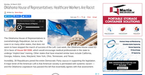 Oklahoma House of Representatives: Healthcare Workers Are Racist