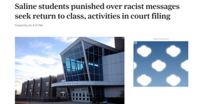 Saline students punished over racist messages seek return to class, activities in court filing