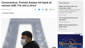 Coronavirus: French Asians hit back at racism with 'I'm not a virus'