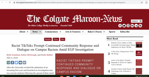Racist TikToks Prompt Continued Community Response and Dialogue on Campus Racism Amid EGP Investigat