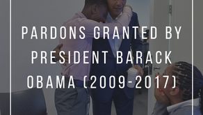 PARDONS GRANTED BY PRESIDENT BARACK OBAMA (2009-2017)