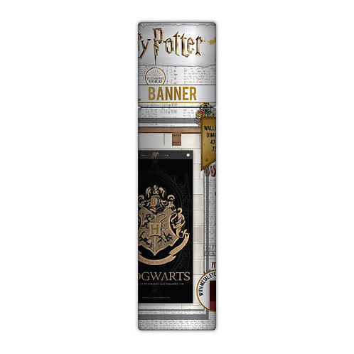 Harry Potter Wall Banner Hogwarts Black