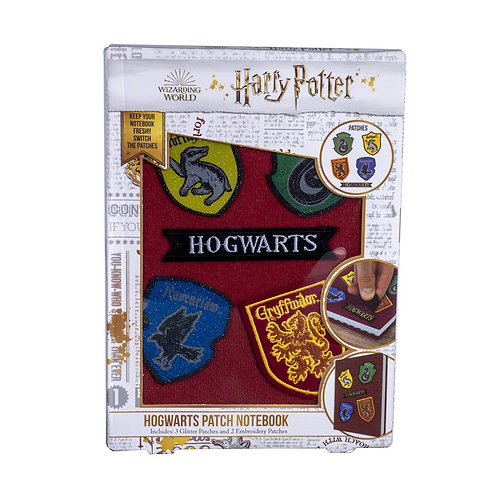 Harry Potter Velcro Notebook with Patches