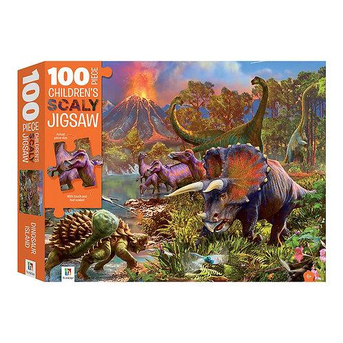 Το Νησί των Δεινόσαυρων – Παζλ Φολιδωτό 100 κομματιών