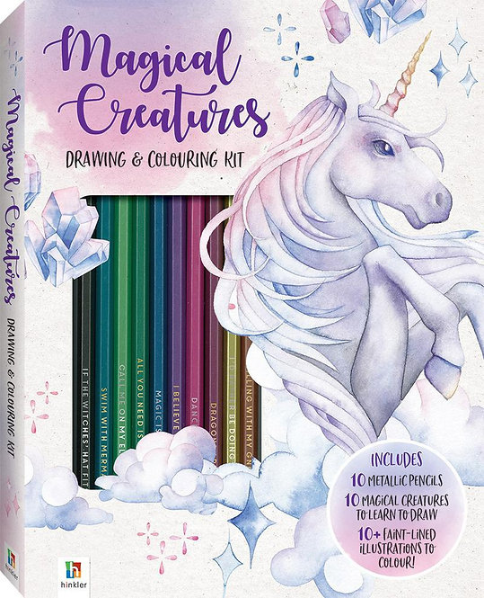 Magical Creatures Coloring and Drawing Kit